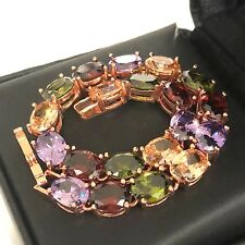 Classic Emerald Ruby Citrus Beaded Bracelet Rose Gold Plated Women Jewelry Gift