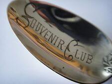 "Circa 1896  5 7/8"" Sterling Silver ""Souvenir Club "" Spoon Gorham Hanover Pattern"