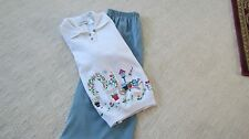 Southern Lady Long Skirt & Embroidered Long Sleeve Sweater Top size 10