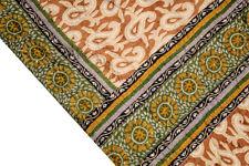 Vintage Indian Pure Silk Saree Kantha Fabric Hand Embroidered Sari Curtain Decor