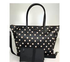 New Kate Spade Wellesley Polka Dot Printed Adaira Baby Bag Diaper Tote Purse