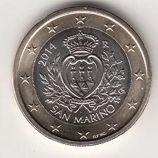 SAN MARINO  MONETA FDC DA 1 EURO ANNO RARO  2014 fior di conio da ROTOLO REGALO