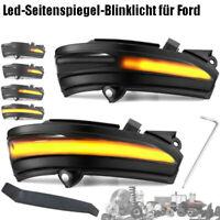 Dynamische LED Spiegelblinker Für FORD MONDEO MK5 FUSION Laufblinker E-Prüfzeich