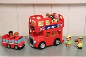 HAPPY LAND LONDON TRANSPORT BUS PASSENGER FIGURES KIDS etc