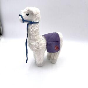 "American Girl Chrissa's Pet Llama Starburst Retired White 12"" Stuffed Animal"