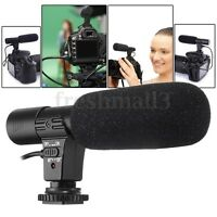 3.5mm External Stereo Microphone Mic For Canon Nikon DSLR Camera DV Camcorder