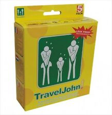 TravelJohn Disposable 5 pack Vomit/Urine Bag for Children and Adults, New