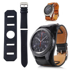 Leather Wristband Watch Band Cuff Wrist Strap Bracelet kit for Samsung Gear S3.