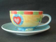 BRIGHT HANDPAINTED WHITTARD OF CHELSEA COFFEE CUP & SAUCER