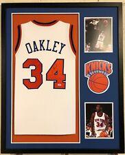Charles Oakley Autographed Custom Framed New York Knicks Jersey PSA DNA COA 1b06d4e54