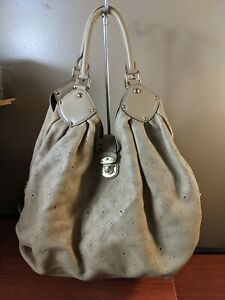 Auth Louis Vuitton  Monogram Mahina Leather extra Large Hobo