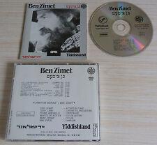 TRES RARE CD ALBUM LIVE YIDDISHLAND BEN ZIMET  11 TITRES NO BARRE CODE