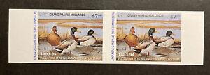 TDStamps: US Arkansas Duck Stamps Mint NH OG Pair, Imperf