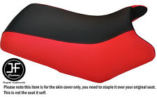 BRIGHT RED & BLACK VINYL CUSTOM FITS YAMAHA BEAR TRACKER 250 SEAT COVER