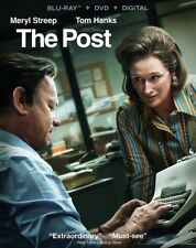 Brand New The Post Blu-Ray + DVD + Digital 2018 with Slipcover