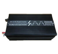 3000W Modified Sine Wave Car Power Inverter Converter 12V/24V DC to 120V/230V AC