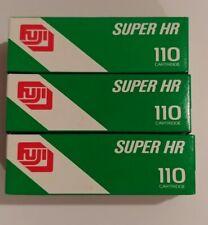 3 Boxes Nos Fuji 110 Super Hr 100 24 Exposure Color Print Film