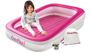 EnerPlex Kids Inflatable Travel Bed with High Speed Pump, Portable Air Mattress
