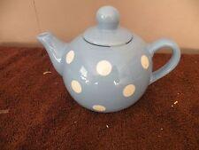 Hallmark Blue With White Polkadots Teapot