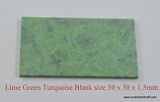 1pcs inlay material reconstituted Lime Green Turquoise size 50 x 30 x 1.5mm