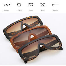 Flat Top Large Oversized Women Sunglasses Square Frame Aviator Gradient Lens