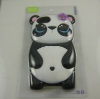 Fits Iphone 6 , 7 & 8  phone case Panda bear flower heart oversize rubber cover
