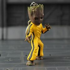 Guardians Of The Galaxy 7.5cm Groot Keychain Yellow Kung Fu Suit Version