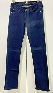 7 FOR ALL MANKIND Jeans Womens Size 28 Mid Rise Straight Leg Good Cond FREE POST