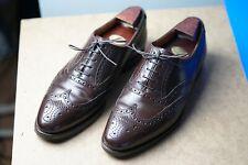 Crockett & Jones Size 8 Cordovan Size 8.5F / 9E 'Finsbury' Brogues - Brown / #8