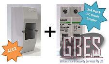 Noark DC Circuit Breaker 25A 2 Pole & Switchboard Enclosure Clipsal 4CC2 Combo