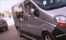 Specchio Copertura Adatto a Opel Vivaro 2001>2014 in Acciaio Inox