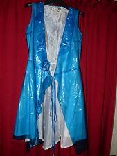 rare Montcler pvc nylon lined  maid apron trans blue TV look at this