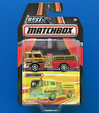 2016 BEST OF MATCHBOX 1975 MACK CF PUMPER American Fire Engine mint on card!
