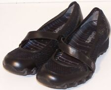 WOMEN SHOES SKECHERS LOAFERS Size EU 36 US 6M BLACK LEATHER NEW