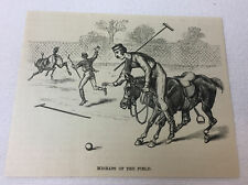 1887 magazine engraving ~ Polo ~ Mishaps Of The Field