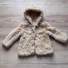Zara girls Gorgeous fur winter coat jacket Age 5