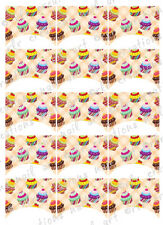 15 FRENCH NAIL TIPS *CUPCAKES* Cupcakes WATERSLIDE NAIL ART DECALS Nail Decal