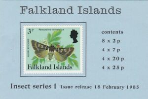 Falkland Islands: 1985, Booklet: Insect Series 1 with cylinder numbers complete