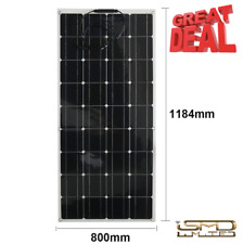 LARGE 130W 18V Semi Flexible Solar Panel With Cable For Home RV Boat Camping
