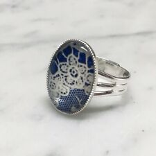 LACE Adjustable Ring - Antique Vintage Lace Pattern