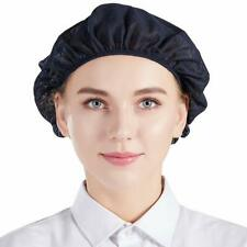 5 Unisex Chef Hat Cap Mesh Kitchen Cooking Protective Working Elastic Net Blue