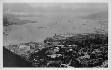 RPPC HONG KONG & KOWLOON PENNINSULA REAL PHOTO POSTCARD (c. 1930s)