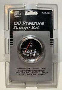 """NAPA Oil Pressure Guage Kit 501-1731 New Sealed 2"""" 12 Volt Car Truck Van RV"""
