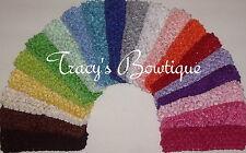 "Pick 12 Crochet 1.5"" Interchangeable Headbands for Hair Bows or Flower Clips"