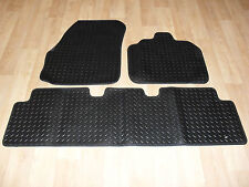 Renault Scenic (2004-09) Fully Tailored H/D RUBBER Car Mats Black.
