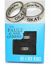 The Fault in Our Stars Movie His & Hers Ring Set OKAY? OKAY. Mens 11 & ladies 8
