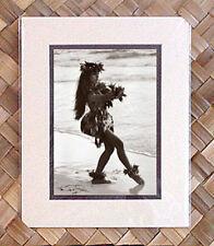 "Kim Taylor Reece ""Haunani"" 8 X 10 Double Matted Hawaiian Hula Print - New"