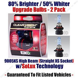 2-Pack Upgrade Headlight Bulbs High Beam 80% Brighter 50% Whiter 9005XS CVSU2