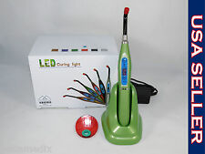 Dental New Wireless LED Curing Light Cure Lamp Green Lampara Foto FORZA4 USA