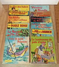 Lot of 12 Vintage Children's French Illustrated Books Tante Lucille Desparois